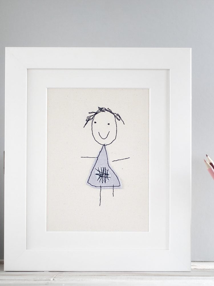 Children's drawing keepsake - a beautiful memento based on your childs' original artwork. A perfect Mother's day gift