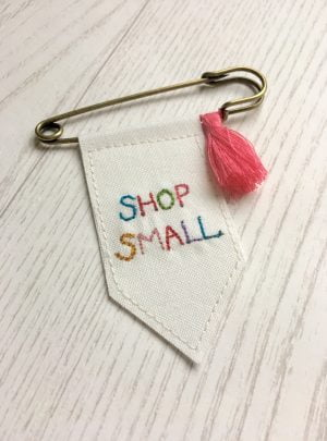 Shop Small banner brooch
