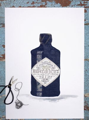 Favourite tipple: Hendricks print