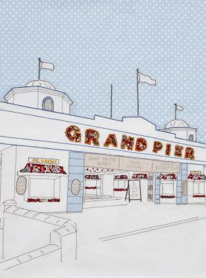 Oh I do like to be beside the sea series: Grand Pier, A4 print