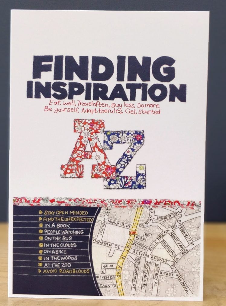 Finding inspiration greetings card A5