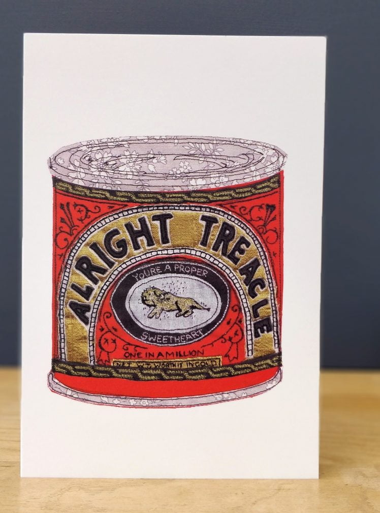 Alright treacle greetings card A5