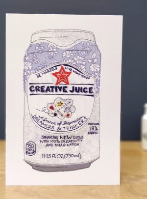 Creative juice greetings card A5