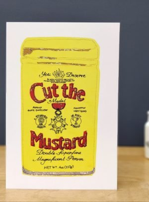 Cut the mustard greetings card A5