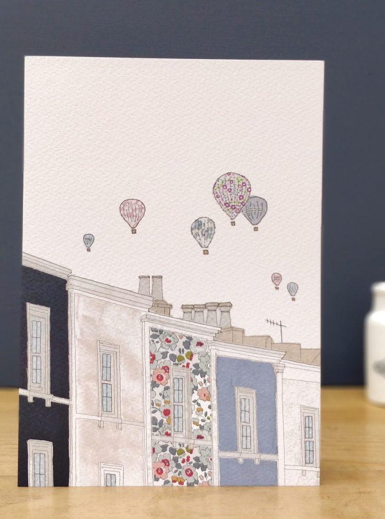 Bristol balloons greetings card A5