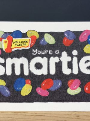 Smartie A5 greetings card