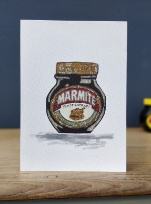 Marmite greetings card