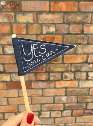 Yes you can pennant flag