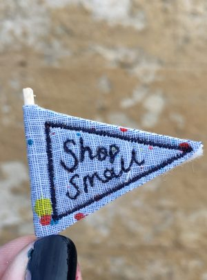Makers pennant badge card – shop small