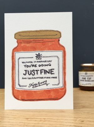 Youre doing just fine greetings card