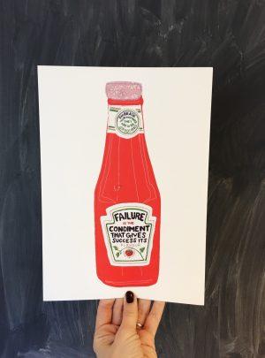 Ketchup print