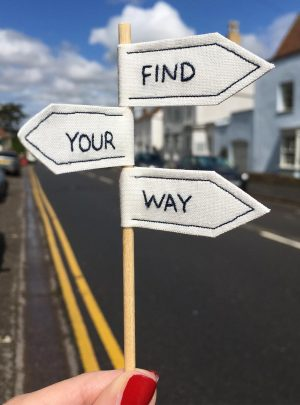 Find your way miniature signpost