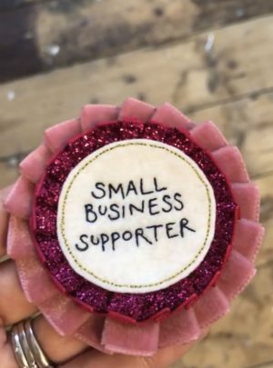 small business supporter rosette