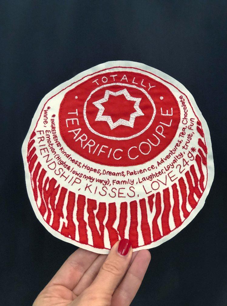 Tearrific couple teacake card