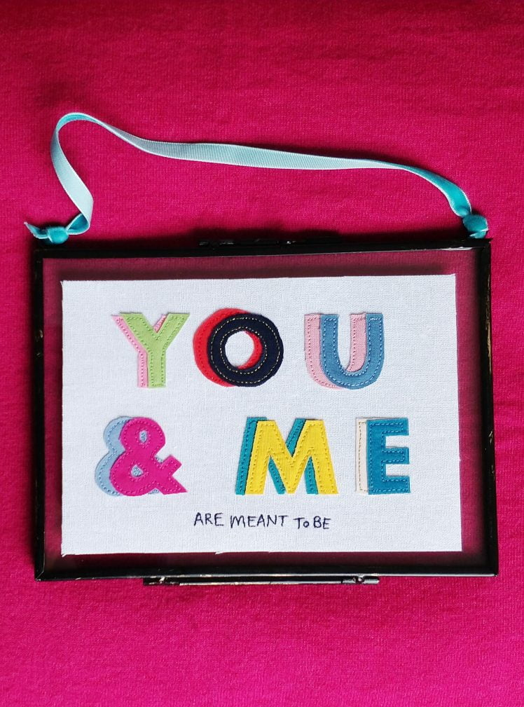 You and me rainbow text picture