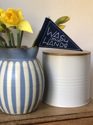 Wash your hands Mini pennant flag