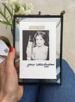 Personalised Embroidered Scrapbook Photo