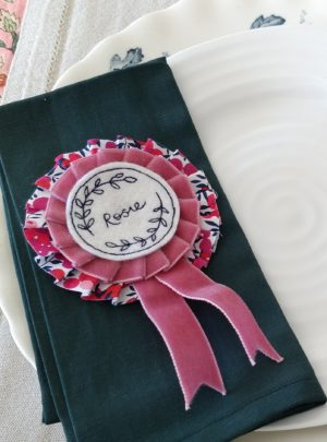 Liberty print wreath rosette Rosie