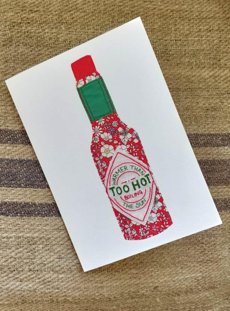 Too hot greetings card