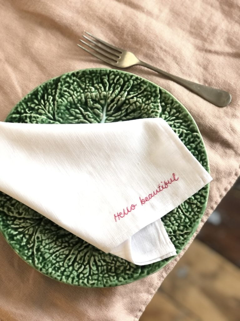 Conversational napkin