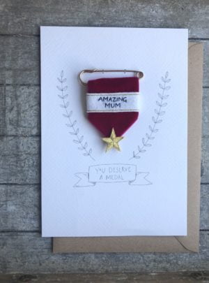 Mothers day embroidered medal