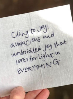 Commonplace collection – Cling to joy
