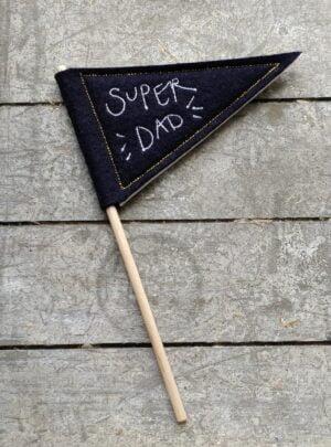 Super Dad mini pennant flag