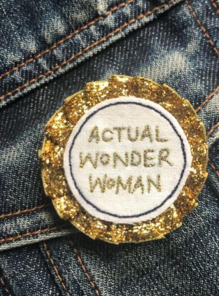 Actual wonder woman rosette badge