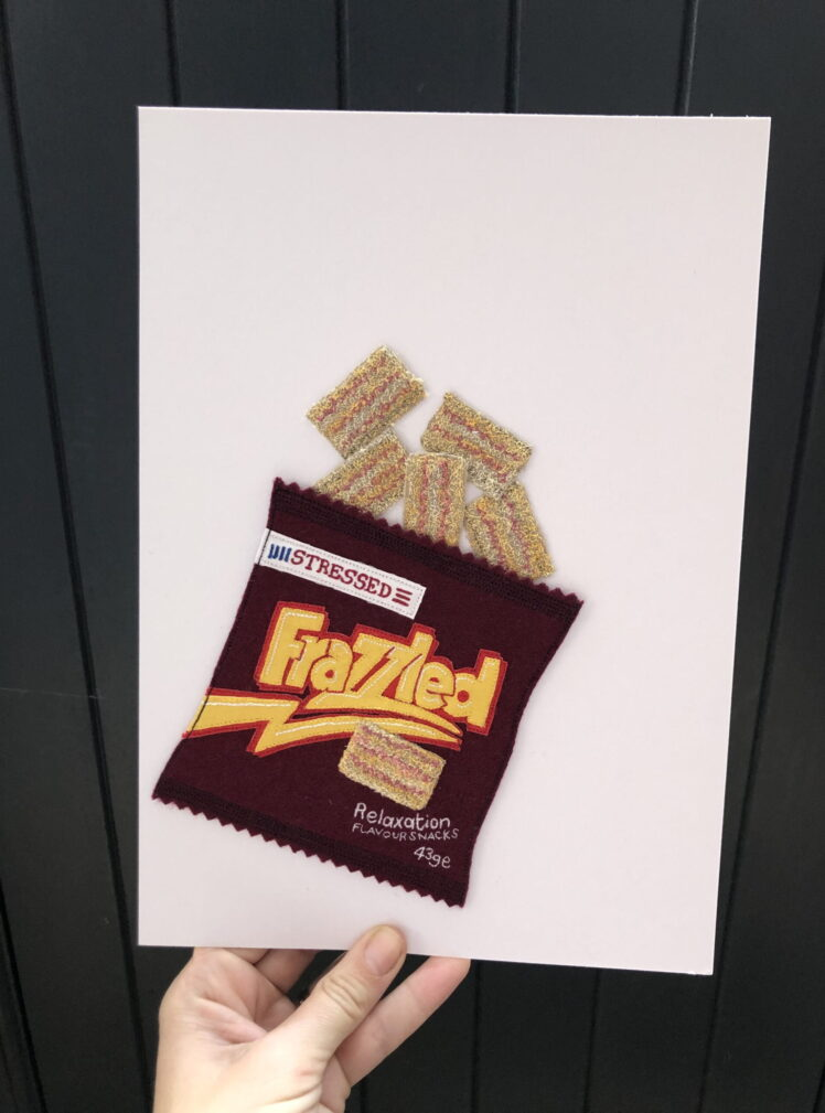 Frazzled original embroidery