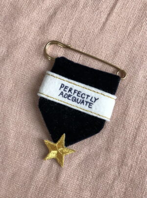 Embroidered medal – perfectly adequate
