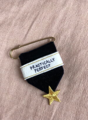 Embroidered medal – practically perfect