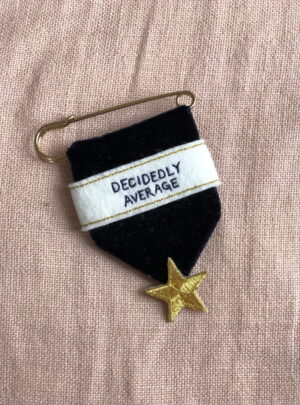 Embroidered medal – decidedly average