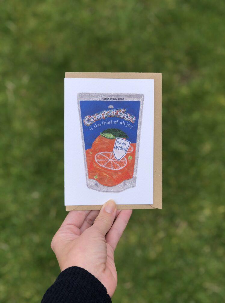 Comparison greetings card